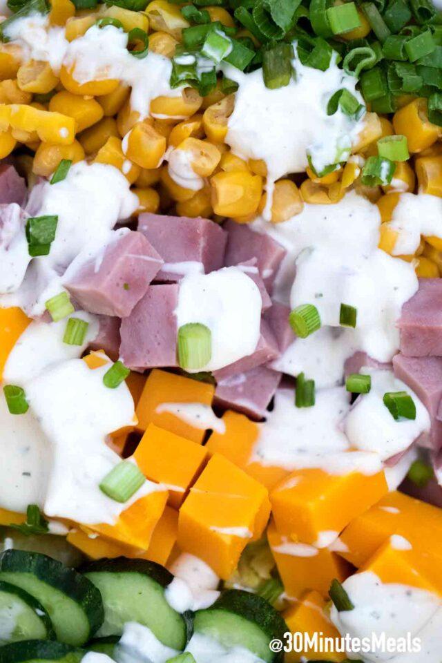 chef salad close