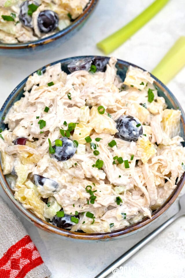easy homemade chicken salad with pineapple