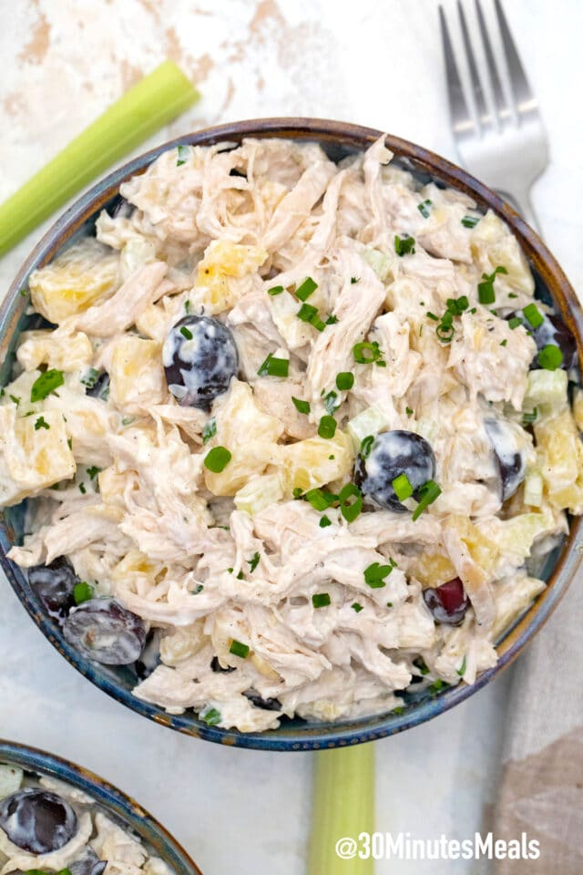 easy chicken salad with pineapple