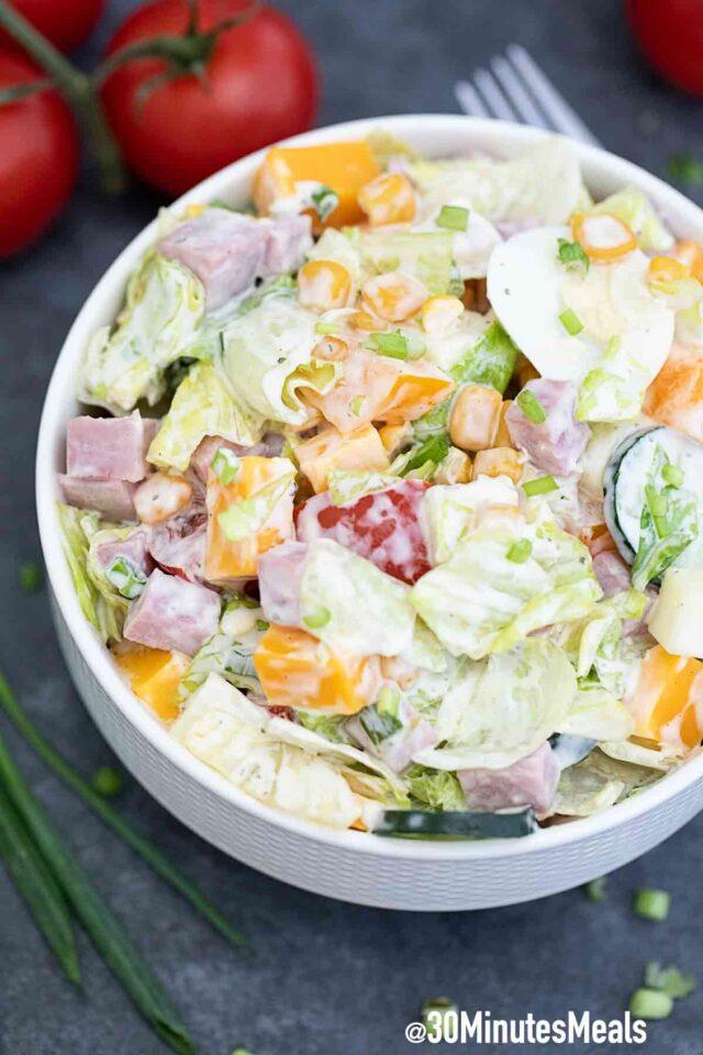 chef salad with ham