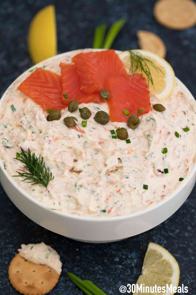 easy dip with smoked salmon