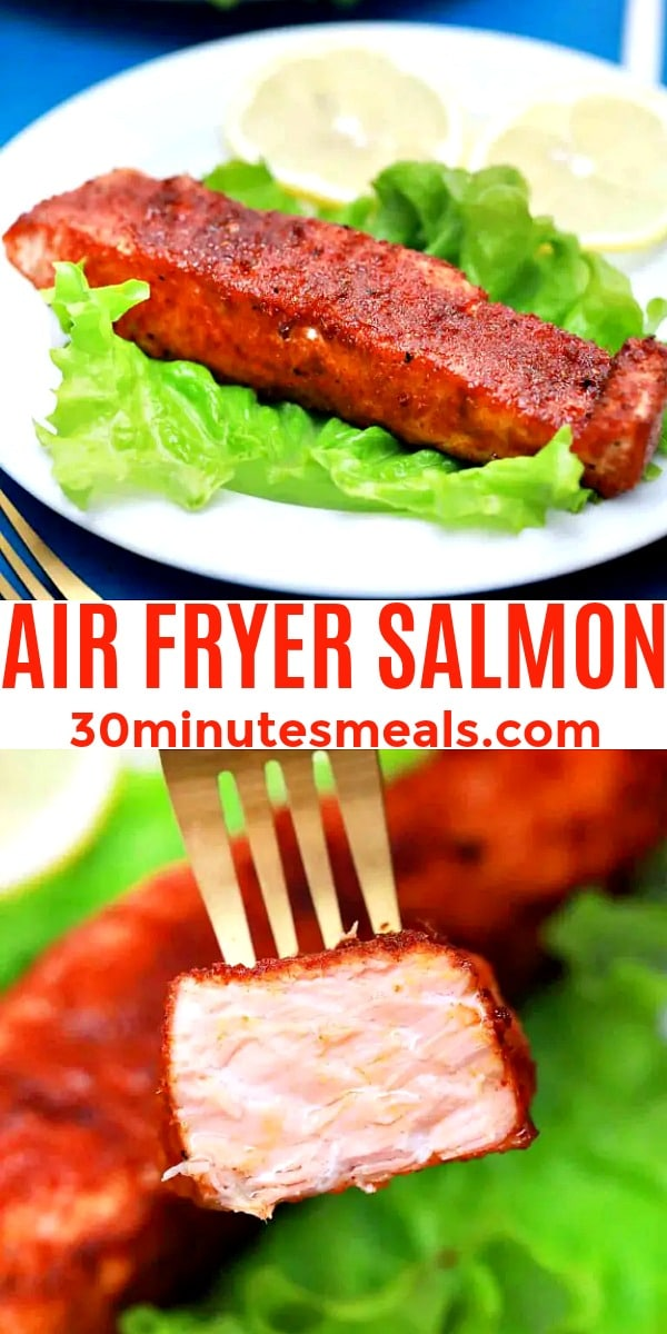 easy air fryer salmon pin