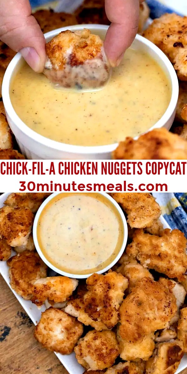 easy chick-fil-a chicken nuggets pin