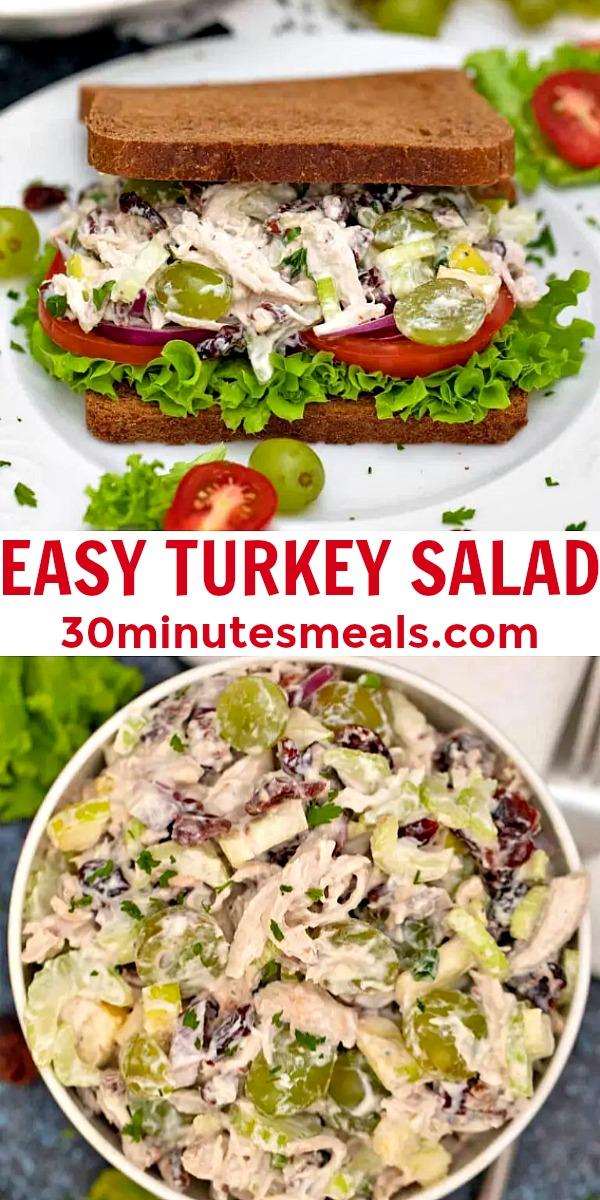 homemade turkey salad pin