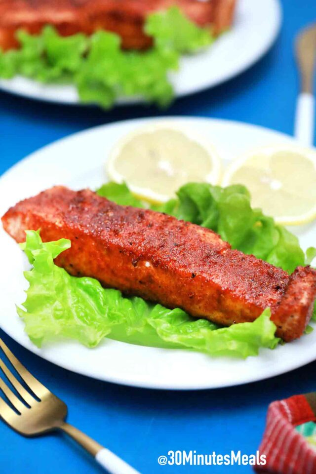air fryer salmon lettuce