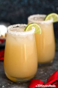 easy christmas margarita