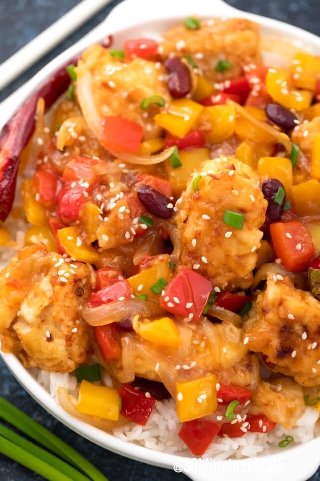firecracker chicken with rice