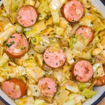 Fried Cabbage and Kielbasa