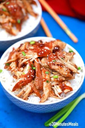easy shredded chicken teriyaki