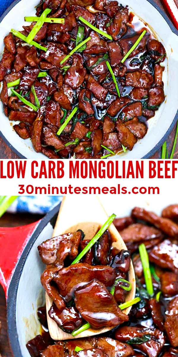 easy low carb mongolian beef pin