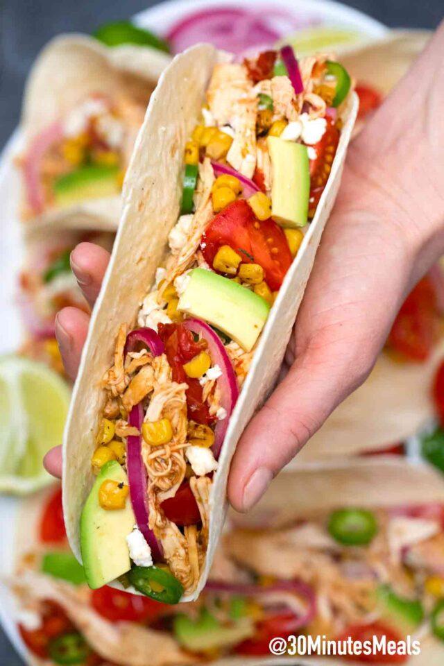 easy homemade chicken tacos recipe