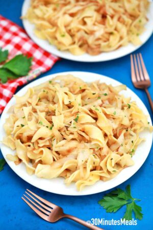 quick fried cabbage and noodles recipe