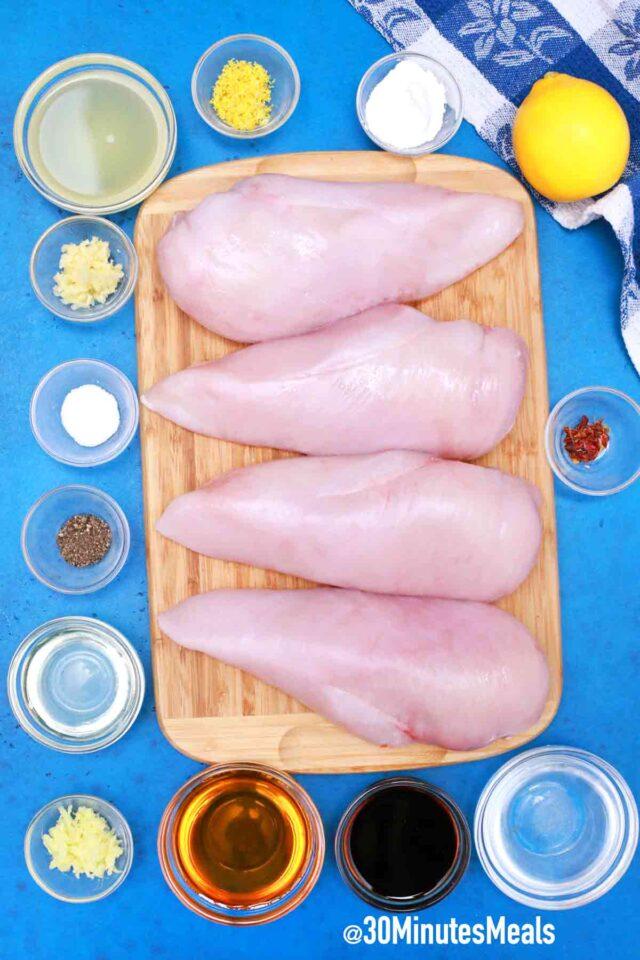 easy low carb lemon chicken ingredients