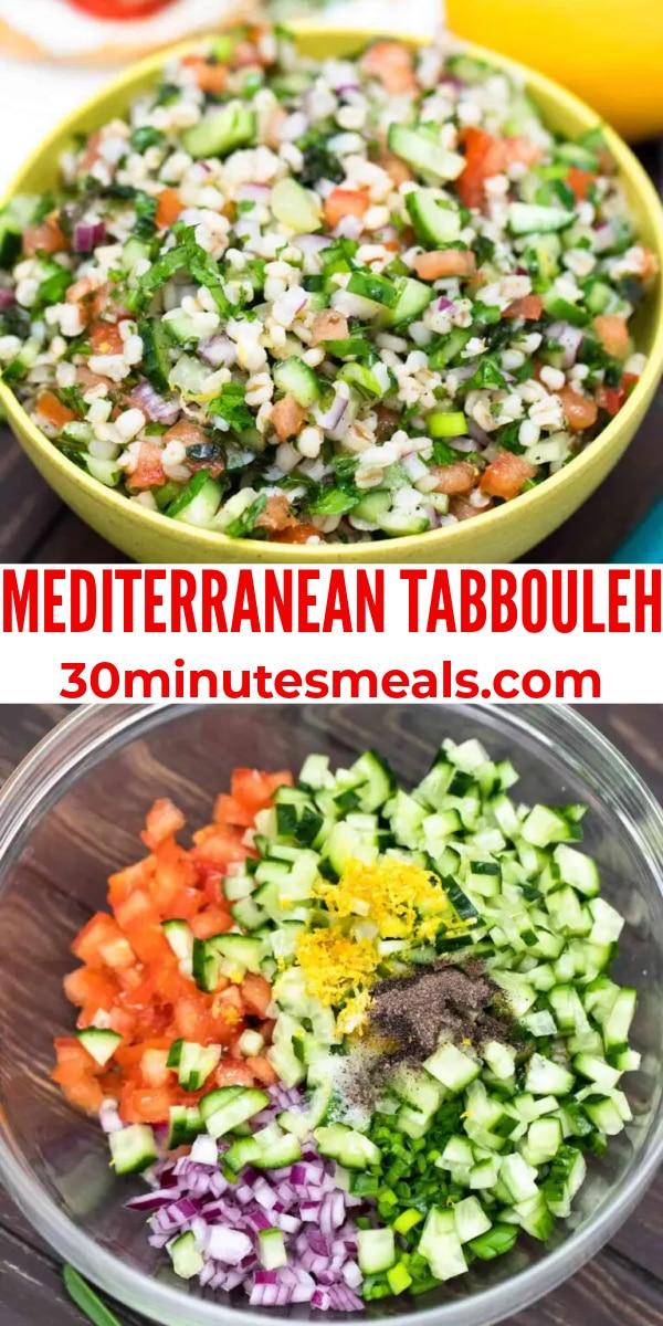 easy mediterranean tabbouleh pin