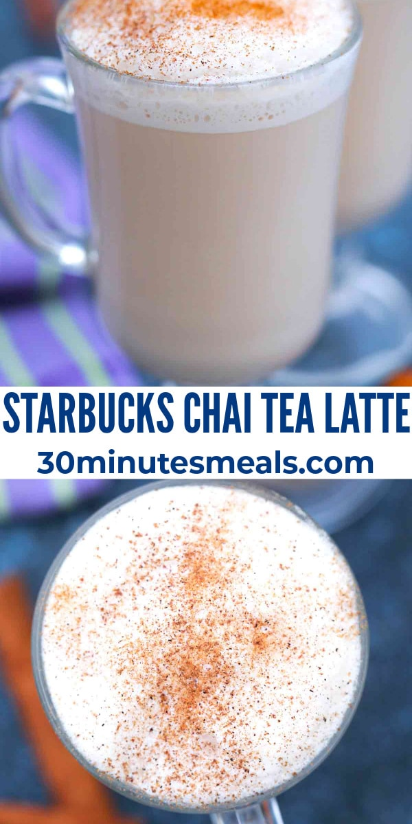 easy starbucks chai tea latte pin