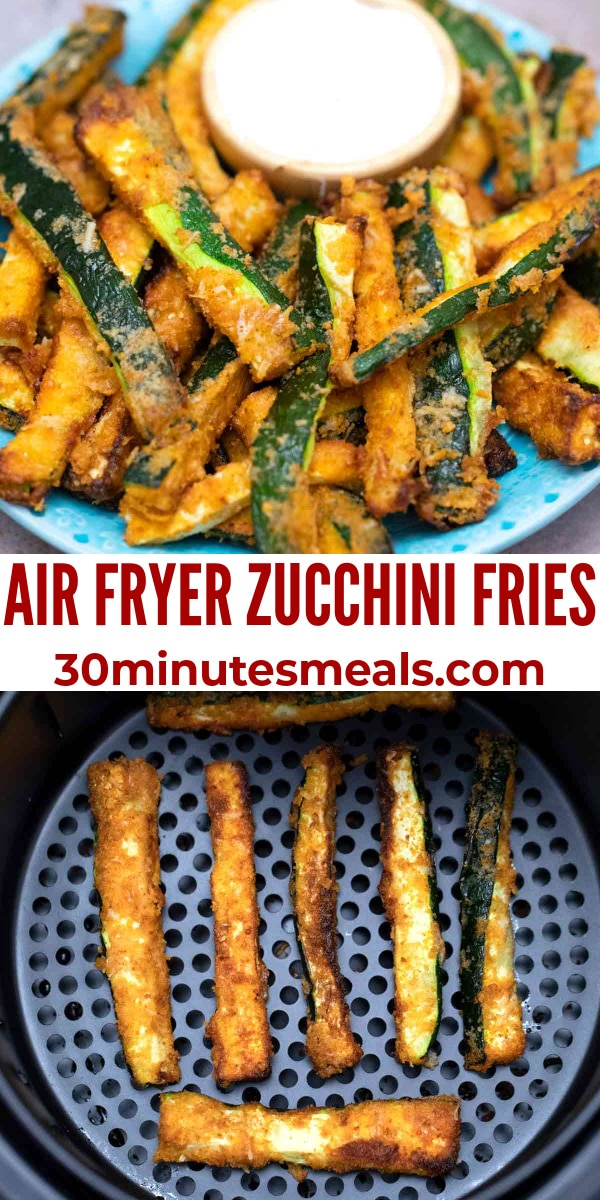 easy air fryer zucchini fries pin