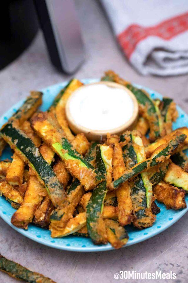 homemade air fryer zucchini fries recipe