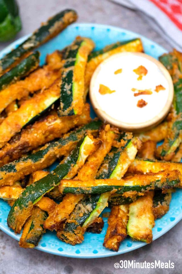 homemade easy air fryer zucchini fries