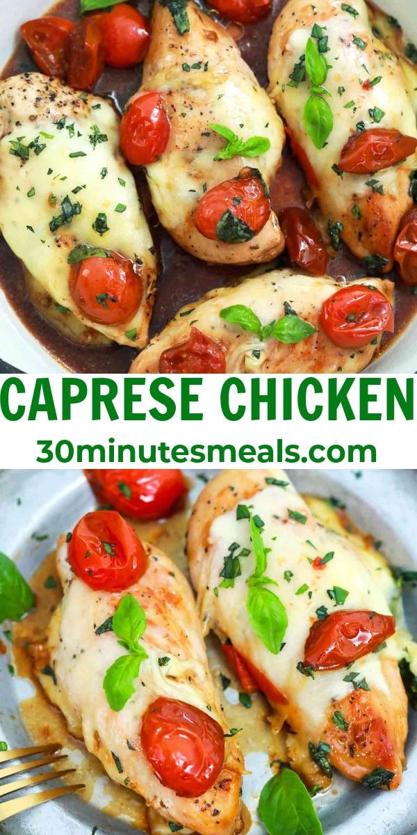 easy caprese chicken pin