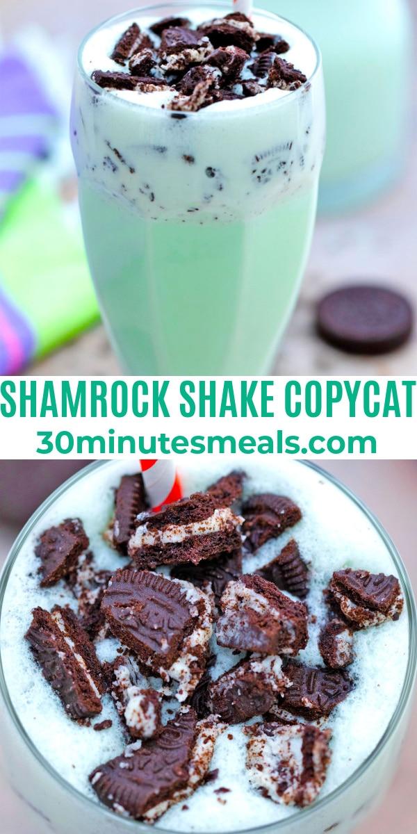 easy shamrock shake copycat pin