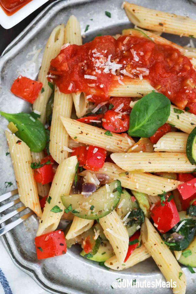 homemade easy pasta primavera