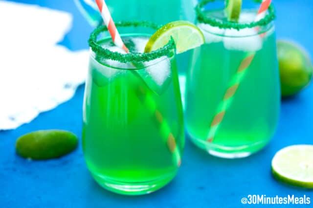 easy shamrock sour cocktail