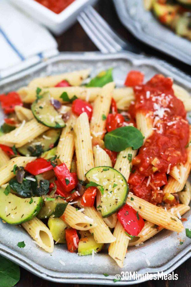 easy vegetarian pasta primavera