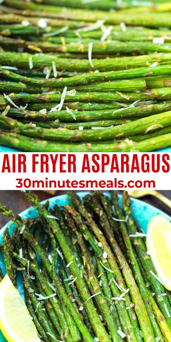 easy air fryer asparagur pin