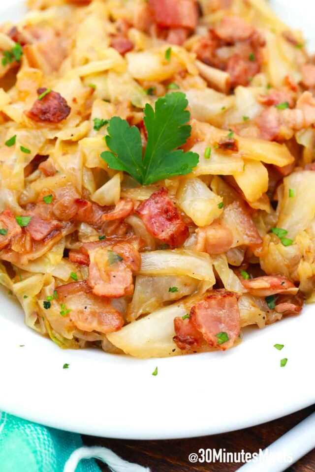 easy cabbage and bacon recipe