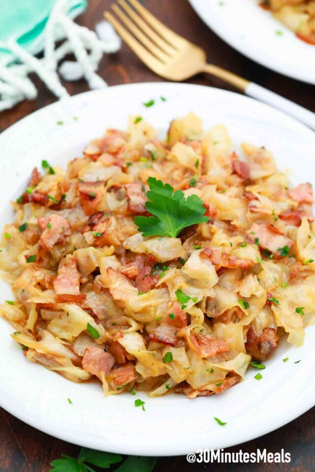 easy fried cabbage and bacon