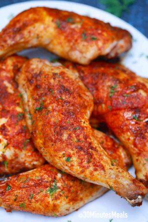 easy air fryer chicken thights