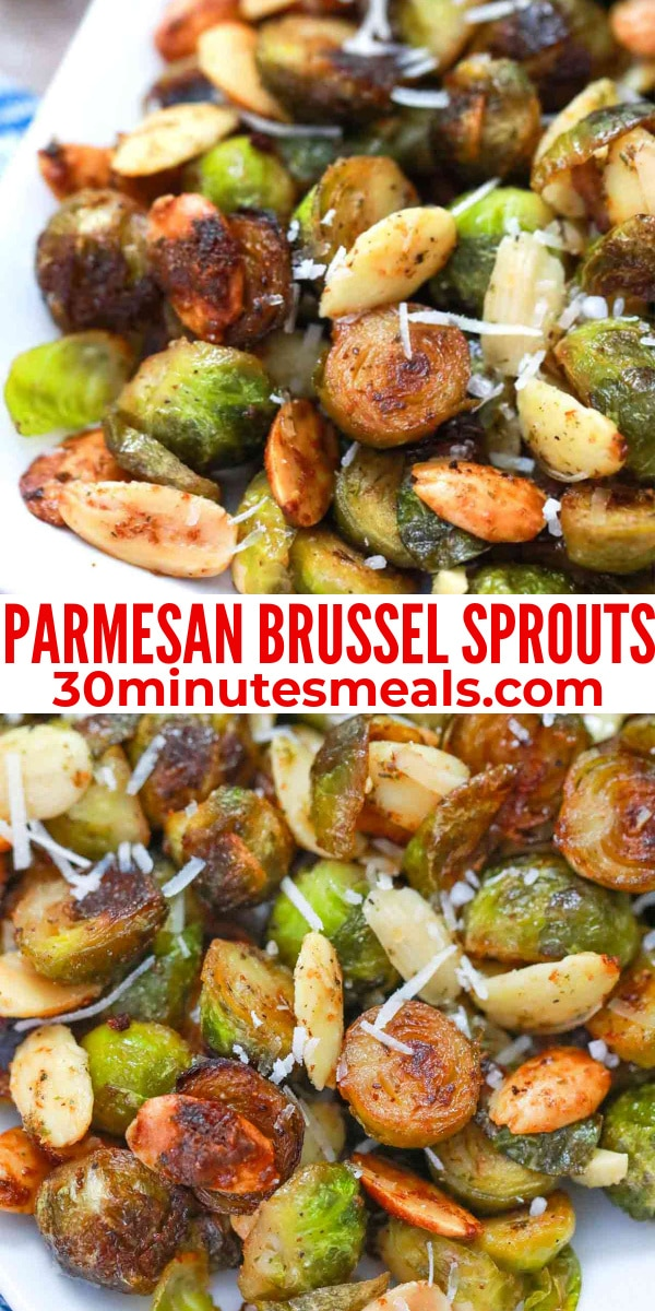 easy parmesan brussel sprouts pin
