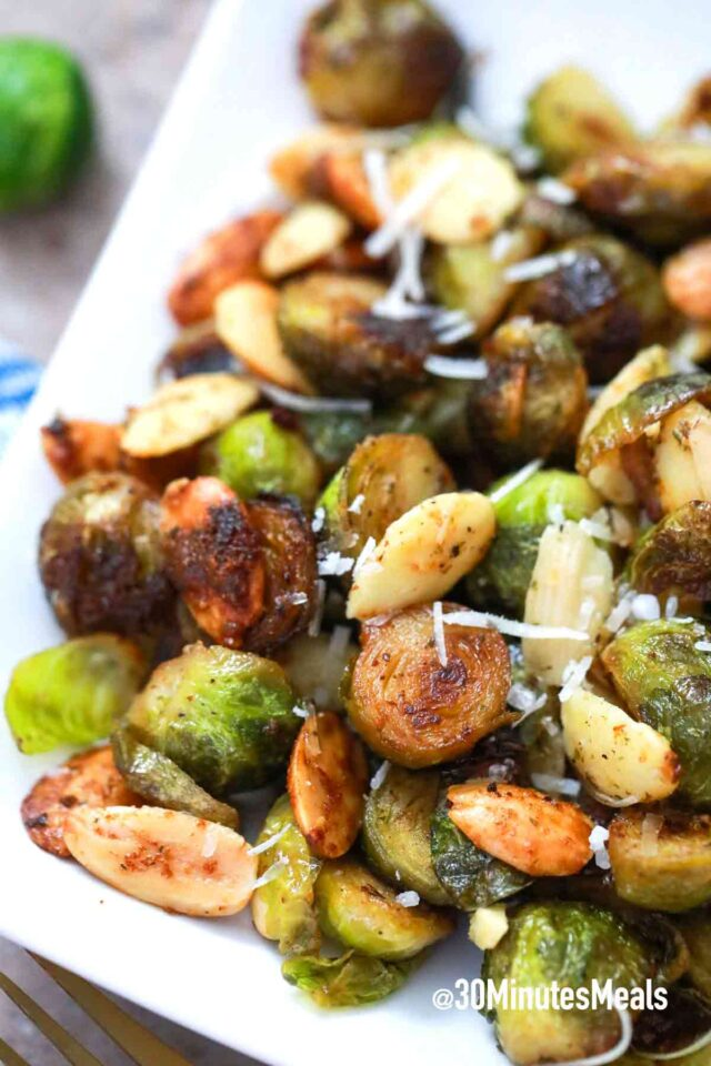 easy crispy parmesan brussel sprouts