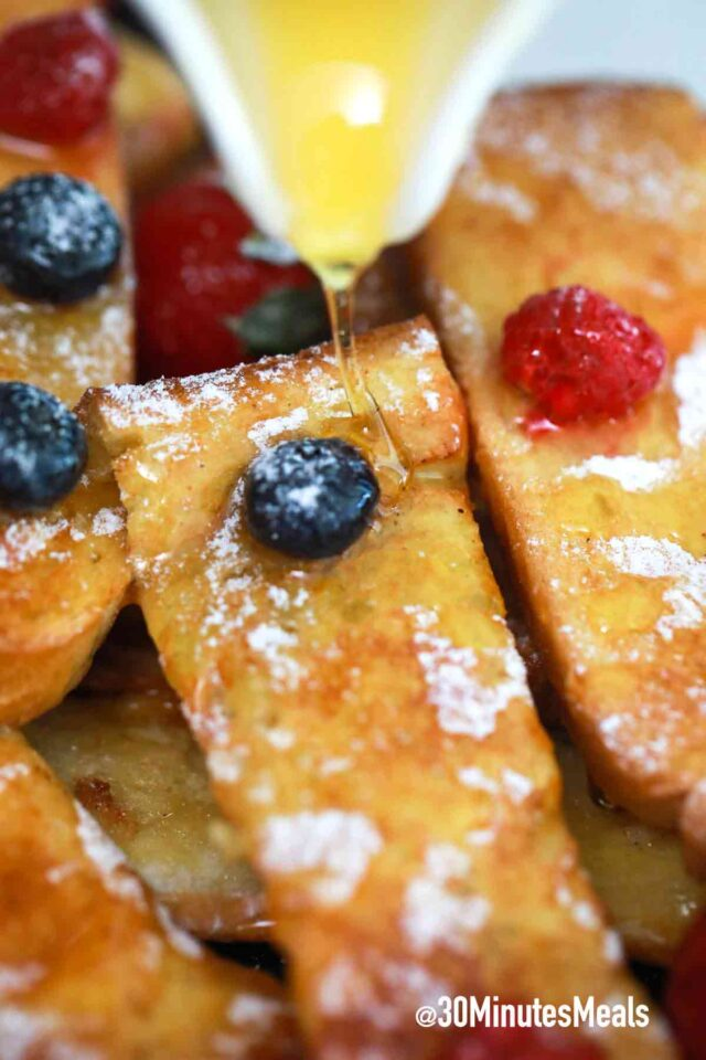 homemade easy air fryer french toast sticks