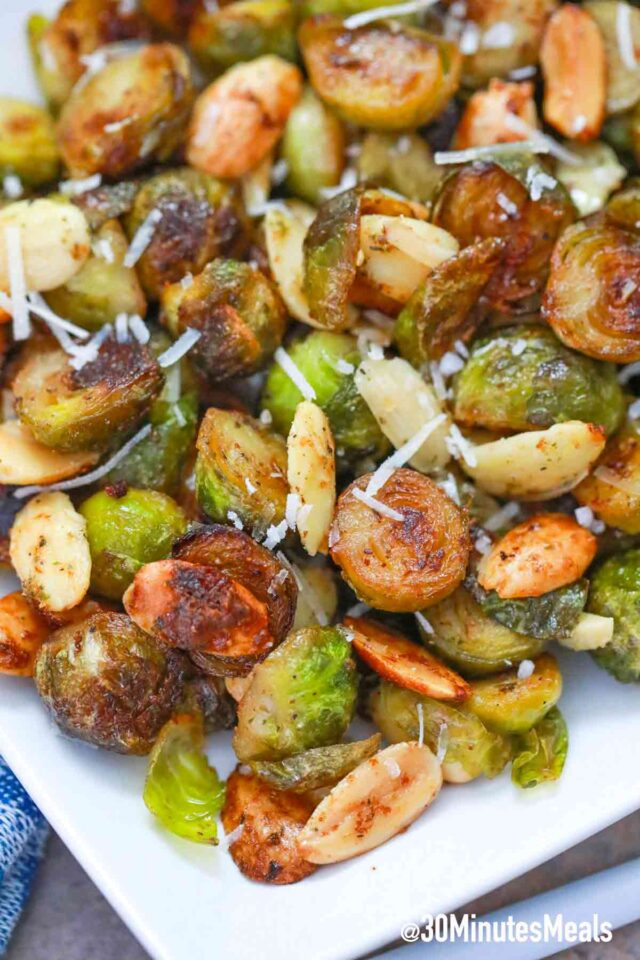 easy oven baked parmesan brussel sprouts