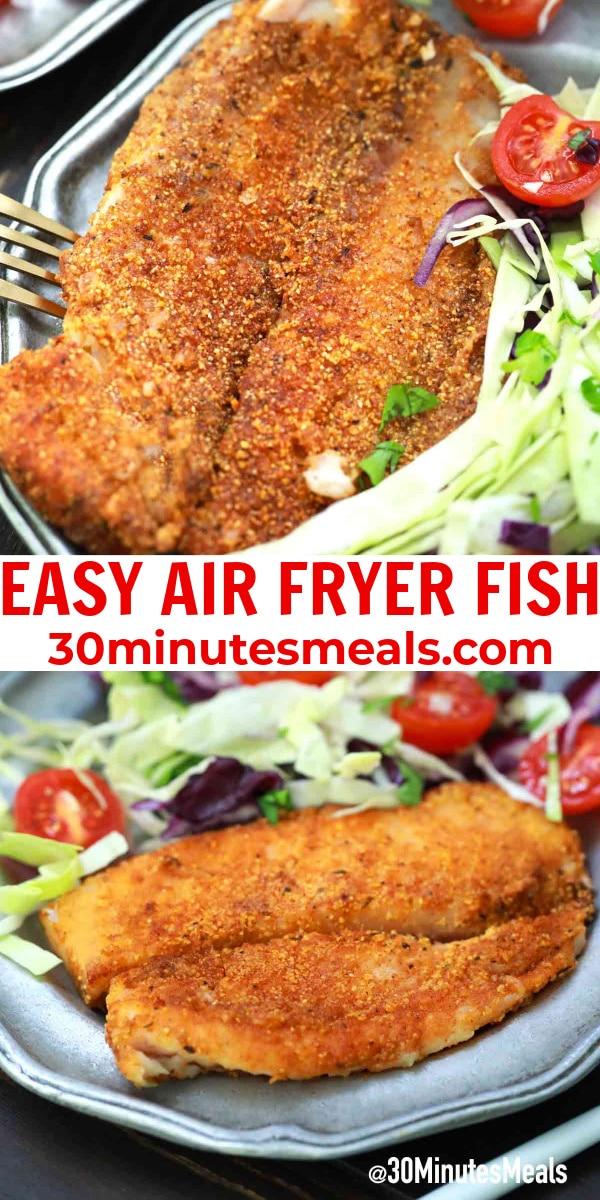 easy air fryer fish pin