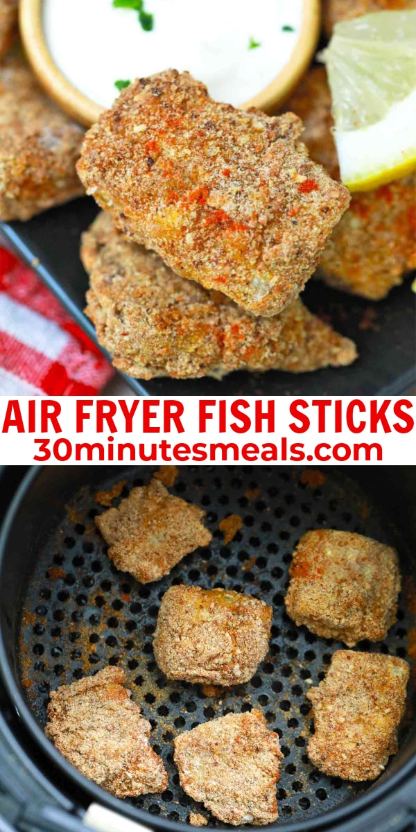 easy air fryer fish sticks pin