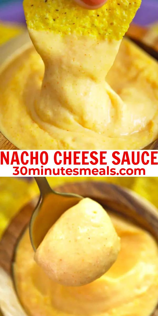 easy nacho cheese sauce pin