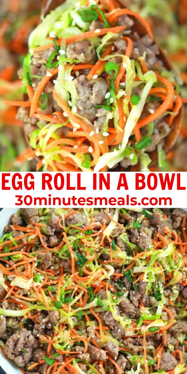 easy egg roll in a bowl pin