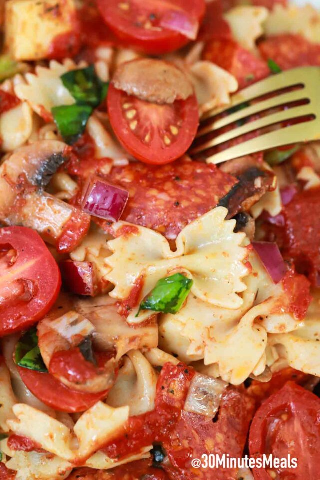 best homemade pizza pasta salad