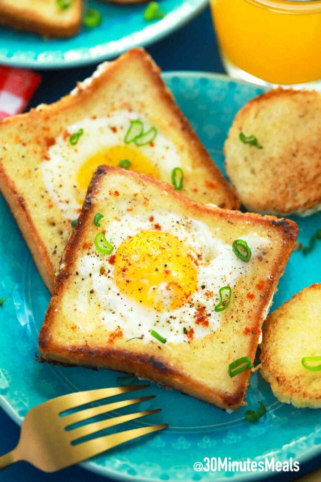 eggs in toast