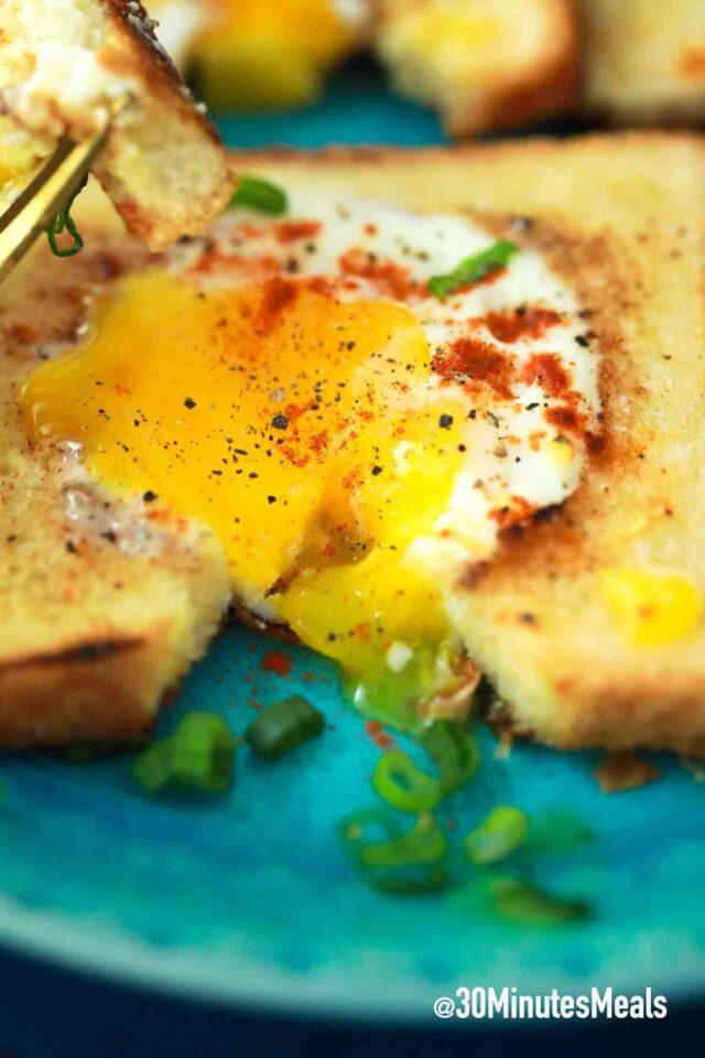eggs in bread slice