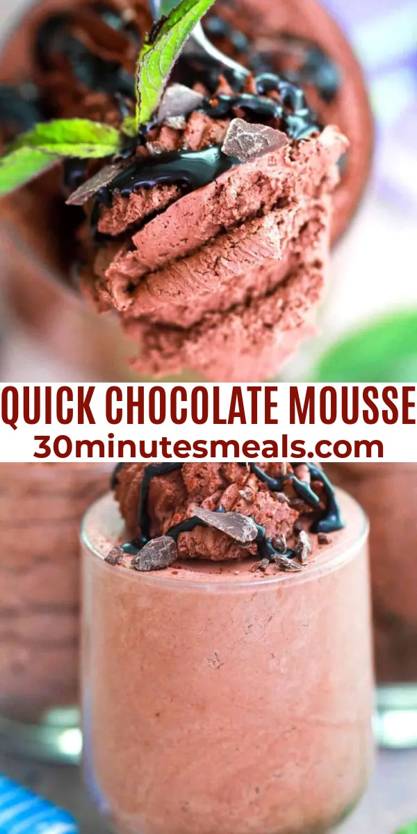 quick easy chocolate mousse pin