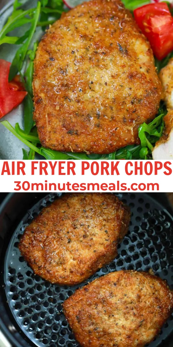easy air fryer pork chops pin