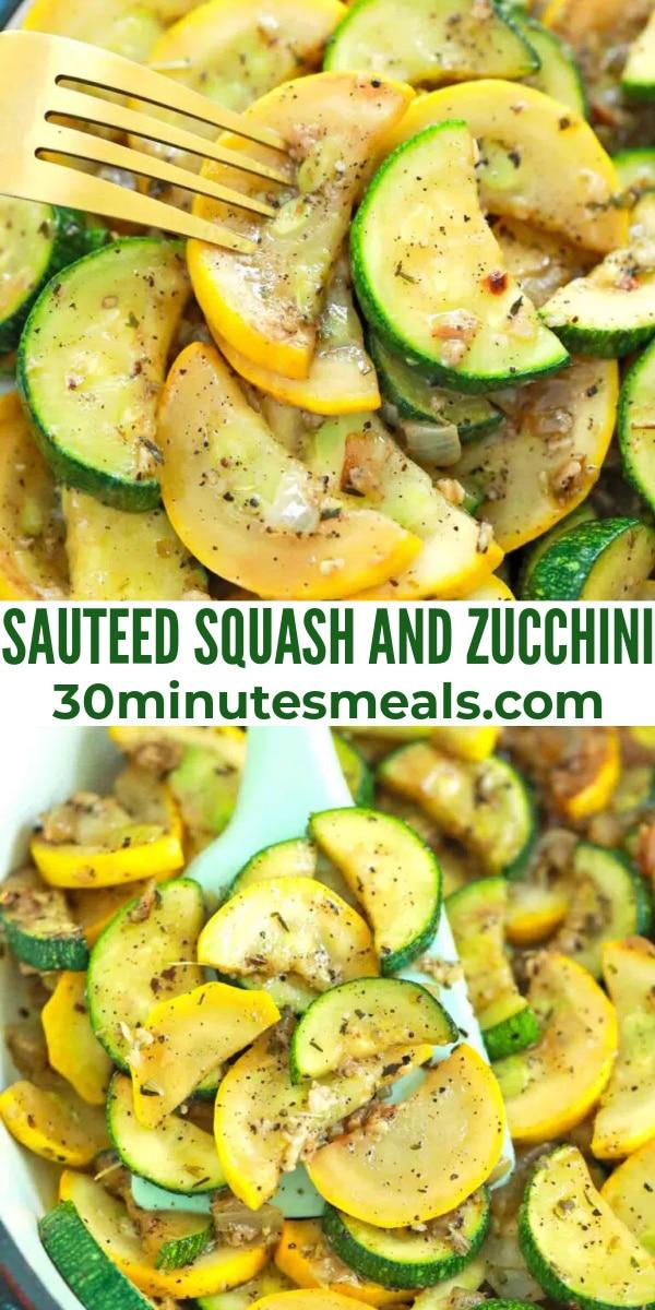 easy sauteed squash and zucchini pin