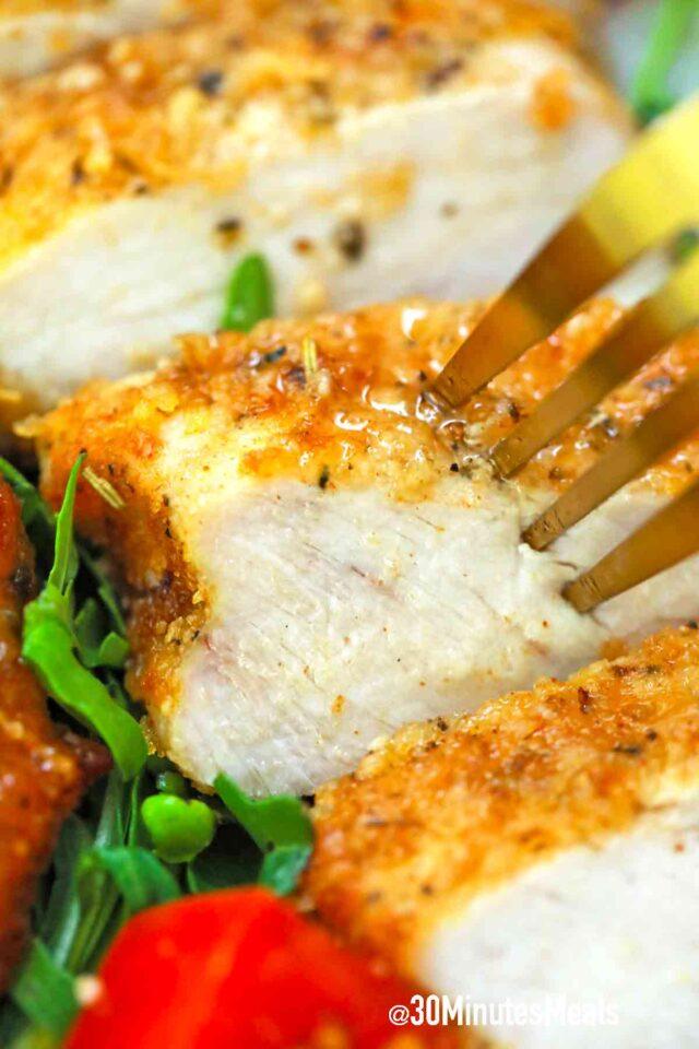 sliced air fryer pork chops
