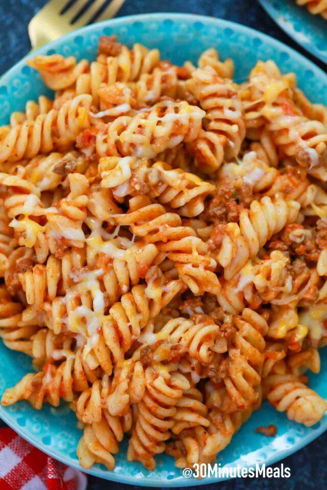 rotini pasta with beef