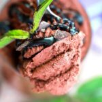 spoonful of chocolate mousse
