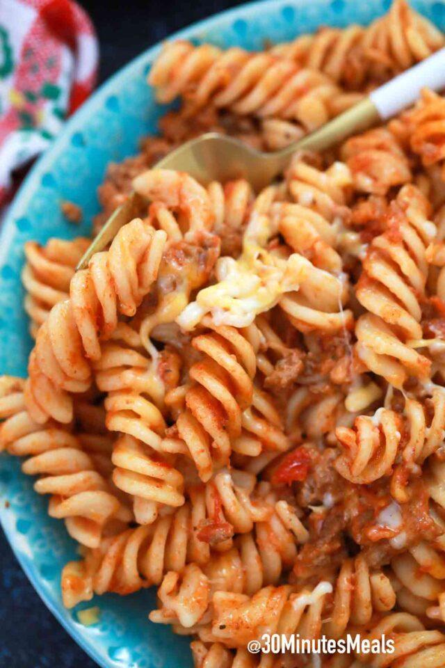 cheesy rotini pasta