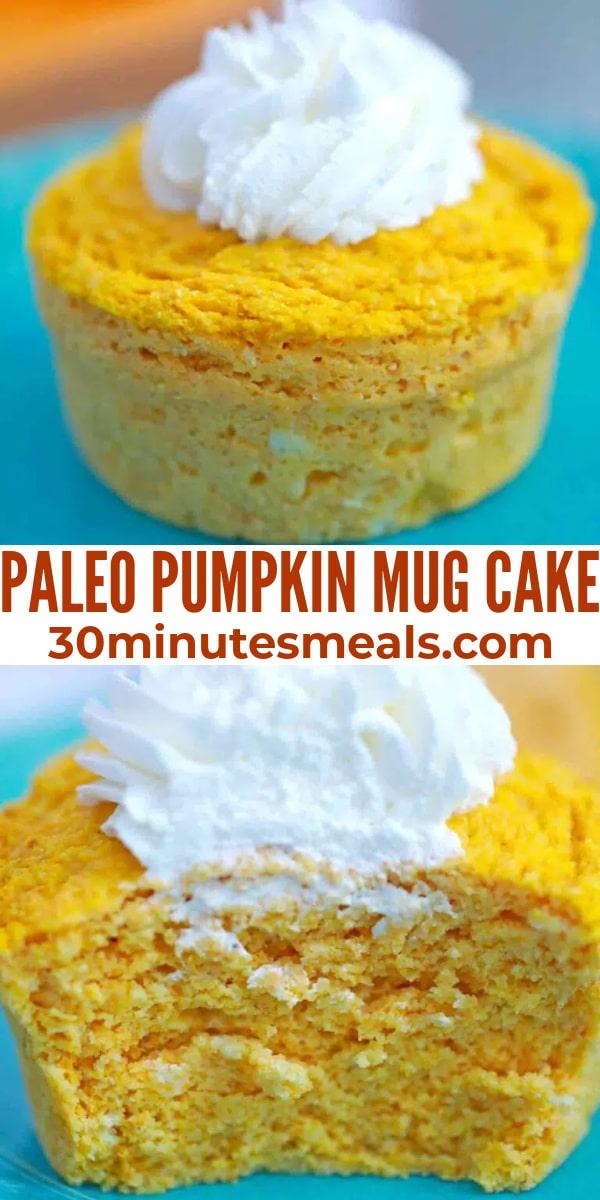 easy paleo pumpkin mug cake pin